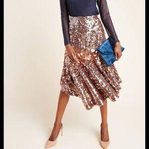 NWT Anthropologie Sequin Asymmetrical Skirt 4